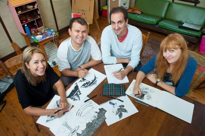 Mona Moradveisi, Murtaza Ali Jafari, Safdar Ahmed and Zanny Begg